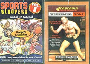Sports Bloopers Vol.1 - Baseball & Basketball & Wrestling Vol. 1 - 2 Seperate Sports DVDs In Set