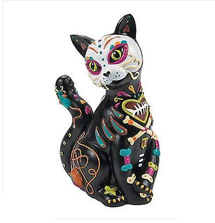 Amazoncom Lapha 12 Statue Skeleton Decor Horror Cat