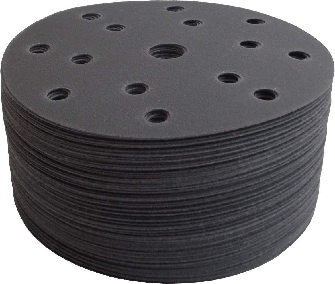 GRANO 240, 100 UNIDADES Discos de lija abrasivos HANDIT SILVER con velcro diametro /Ø150 mm y 15 aspiraciones /…
