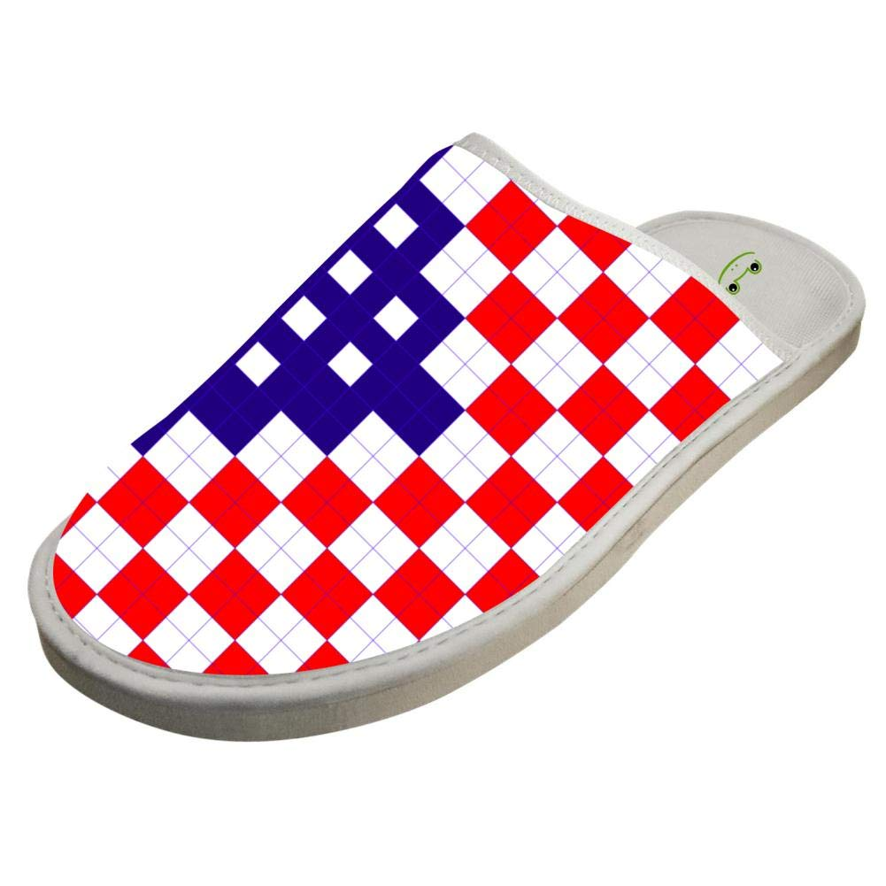 4f56dcdd49bd8 Amazon.com: JJZZA Adult Cool Design House Slippers,American Flag ...