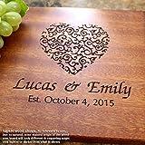 Personalized Cutting Board, Custom Keepsake, Engraved Serving Cheese Plate, Wedding, Anniversary, Engagement, Housewarming, Birthday, Corporate, Closing Gift #213