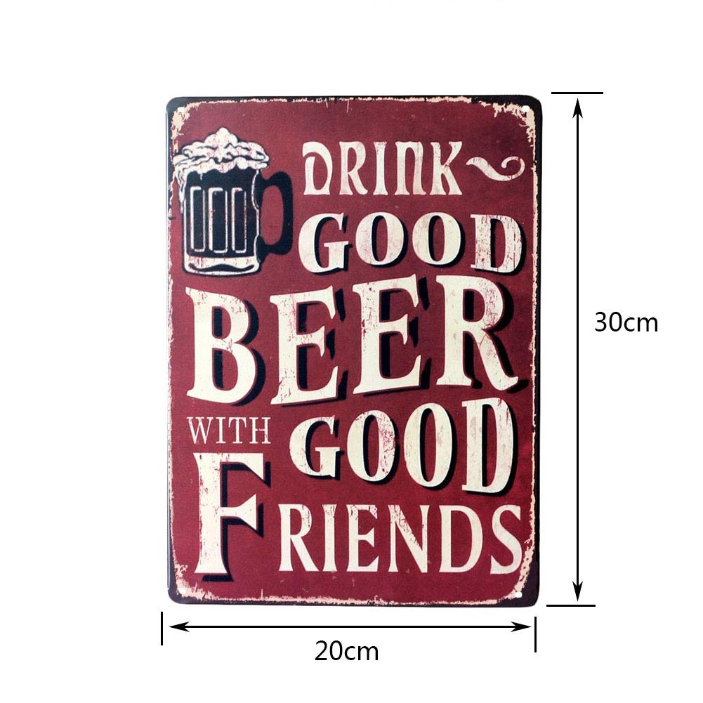 Poster Metallic Poster Pittura Arte decorativa vintage per Bar Cafe Pub 20cmx30cm