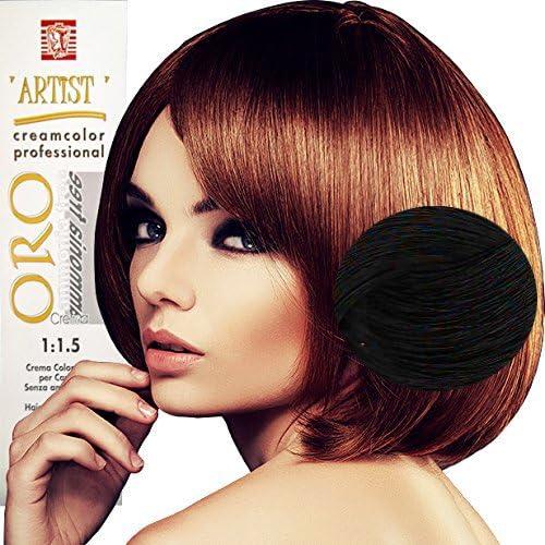 Tinte de Pelo Profesional Negro Natural sin Amoníaco 1/0 Permanente 100ml Made in Italy