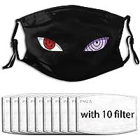 Naruto Eyes Unisex wasbaar en herbruikbaar gezicht beschermen buiten met 6 filter