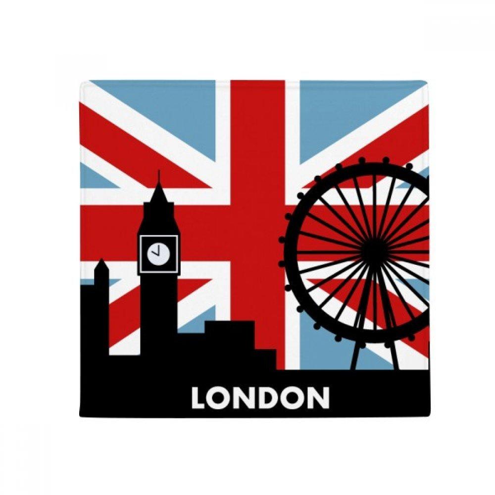 60X60cm DIYthinker Britain Union Jack London Eye Big Ben Flag UK Anti-Slip Floor Pet Mat Square Bathroom Living Room Kitchen Door 60 50Cm Gift