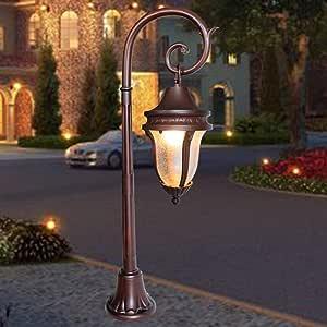 WHYA 80cm Waterproof Vintage Outdoor Post Bollard Light ...