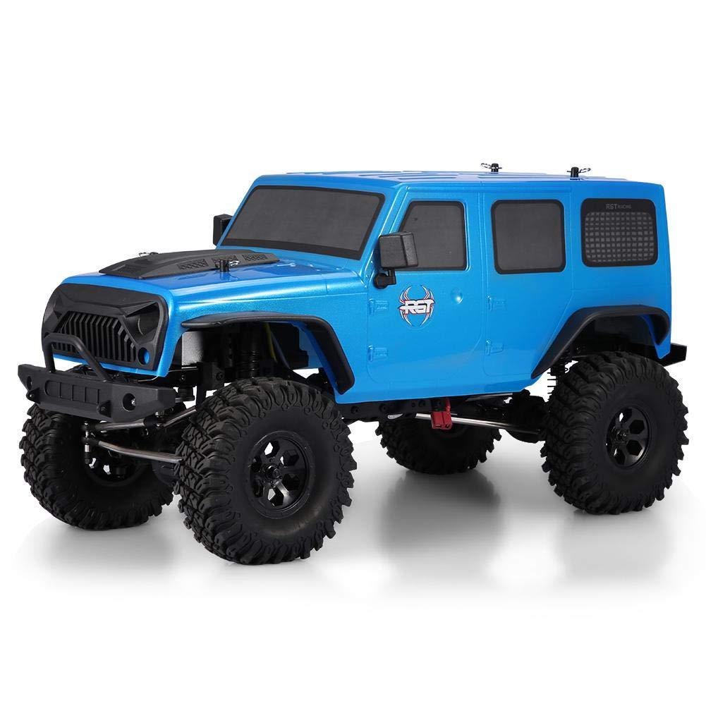 RCトラック RGT EX86100 1/10リモートコントロール4WDモデルカー 高シミュレーション 高速ブラシモーター 無限可変速度 電動オフロード クローラーUSプラグ ブルーカラー B07LFYW7H6