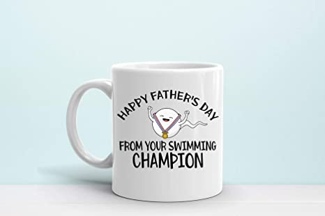 Funny Father/'s Day Mug Happy Father/'s Day From Your Swimming Champion Mug swimmer sperm Father/'s Day,Father/'s Day 2021 Gift Ideas