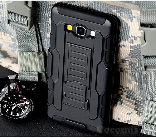 Galaxy A3 Case, Cocomii Robot Armor NEW [Heavy Duty] Premium Belt Clip Holster Kickstand Shockproof Hard Bumper Shell [Military Defender] Full Body Dual Layer Rugged Cover Samsung (Black) Photo #9