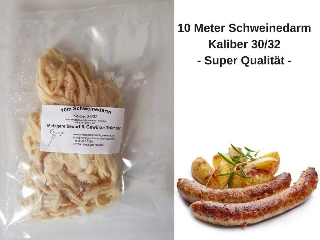 Schweinedarm Kaliber 32//34 in 1A Spitzenqualität 15 Meter Bund