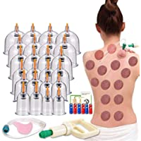 Cupping Therapy Sets,Hijama Cupping Vacuum Suction 24 Cups Sets for Cellulite Cupping...