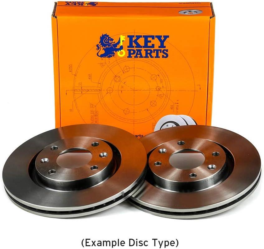 Key Parts KBD4383 Brake Disc Pair Front