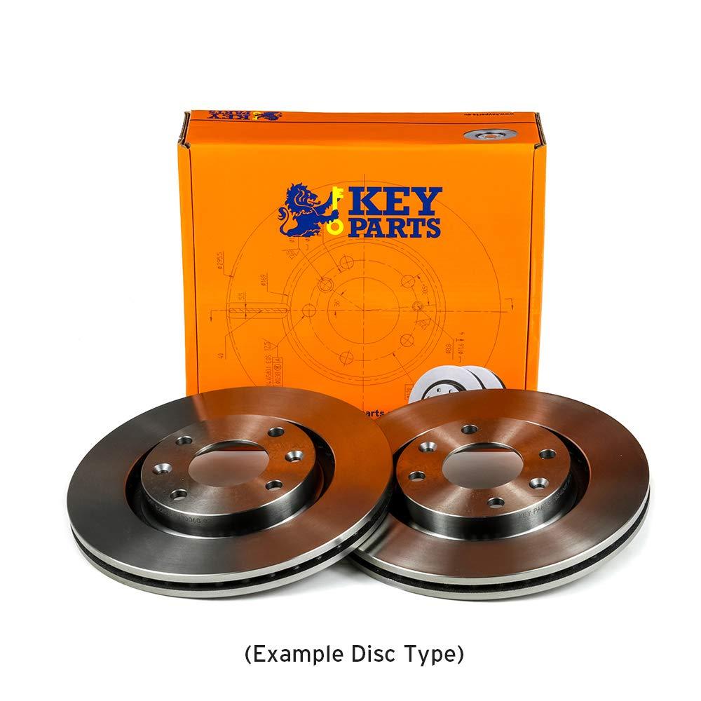 Key Parts KBD4025 Brake Disc Pair Front