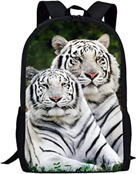 Drawstring Bags Men 3D Animal Tiger Printing Kids Girls School Student Backpack