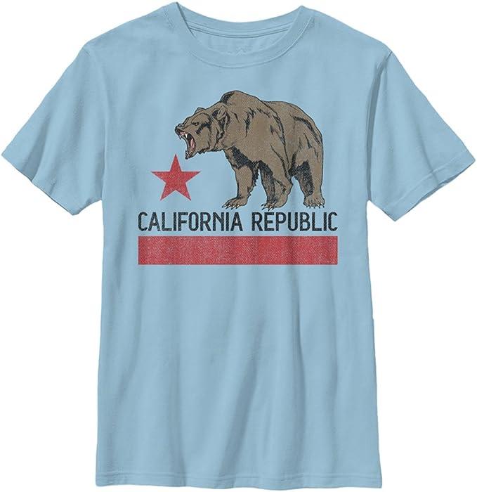 """Gray FifthSun /""""Boys/"""" Short-Sleeve, California Republic"""