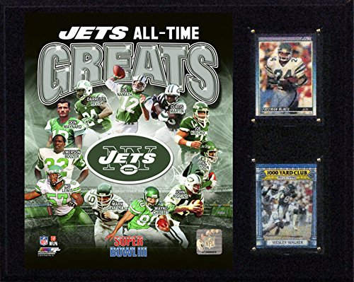 C&I Collectables NFL New York Jets Greats Plaque, 12