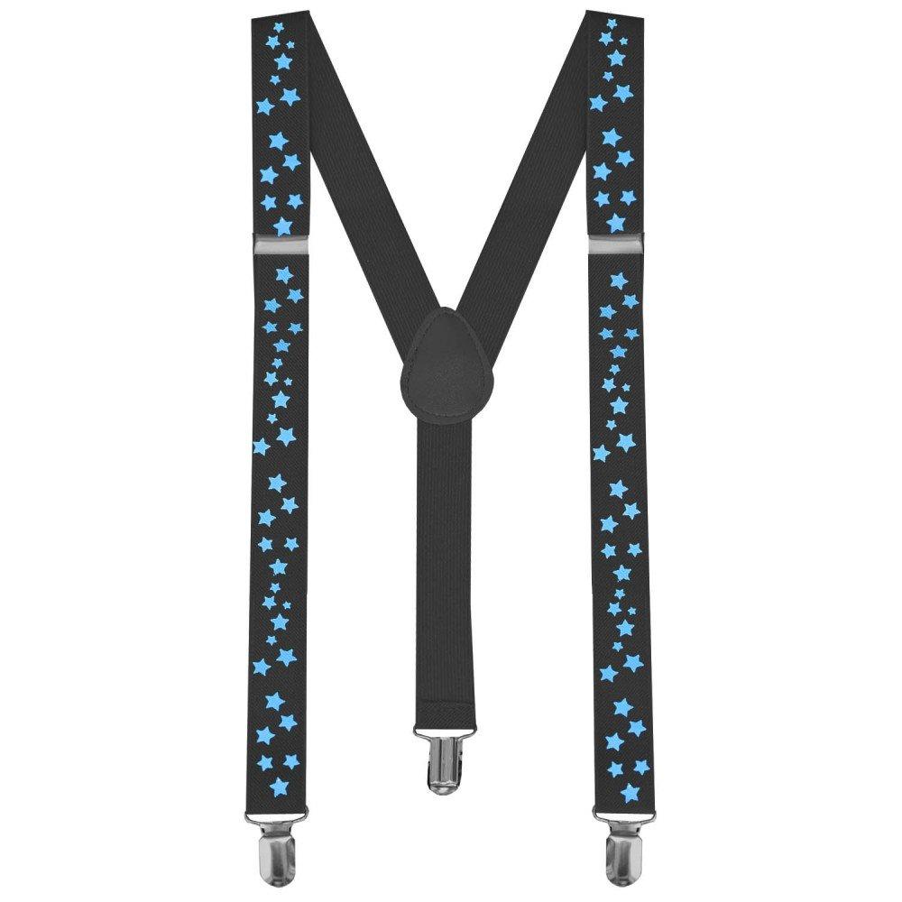 tumundo 1 Tirantes Elásticos Ajustable Para Pantalones Y-diseño Clip 35 Modelos Unisex Vestido de Lujo Clip de Disfraces, modelo:1.5 azul marino: Amazon.es: ...