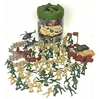Elite Force Battle Group Army Men Play Bucket - 120 Piece...