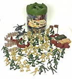 Elite Force Battle Group Army Men Play Bucket - 120 Piece Military Soldier Playset