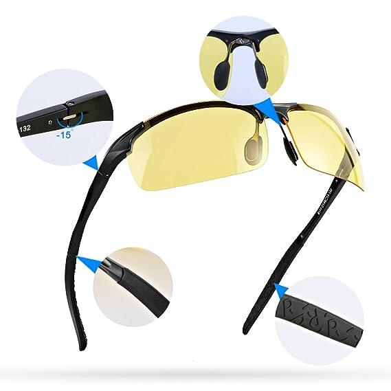 Hommes Femmes Jour et Nuit Vision Polarized Conduite Lunettes de Soleil Sports de Plein Air Lunettes Ultra-léger Anti-ébvn5NFY209Fsant Cadre Réglable 1Hvs41c