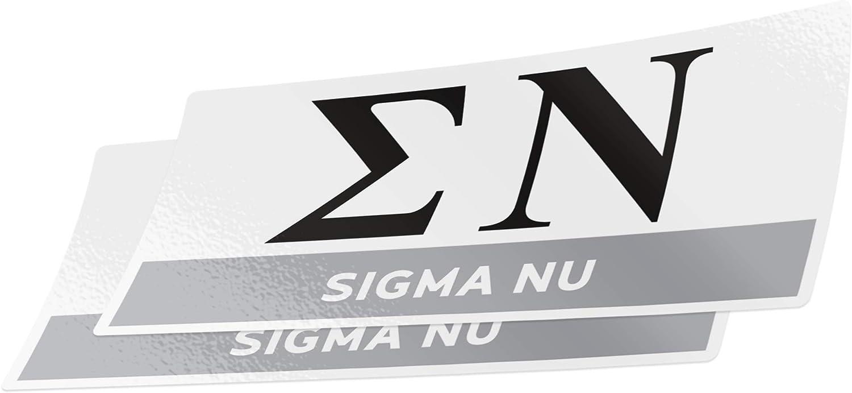 Sigma Nu USA Letter Sticker Outside Car//Computer Sig Nu