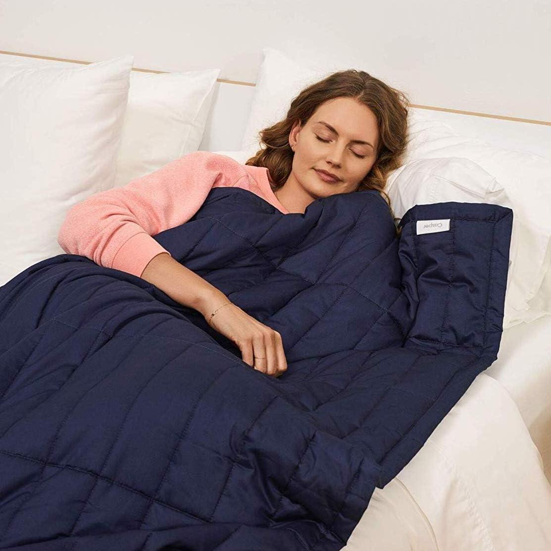Casper Sleep Weighted Blanket, 15 pounds, Indigo