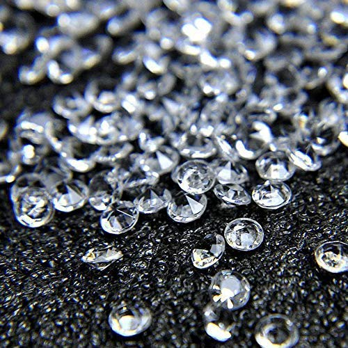 Miraclekoo 2000 Pcs 8mm Clear Acrylic Diamonds Sparkly Table Confetti Crystals for Wedding Bridal Shower Party Decorations Vase Fillers