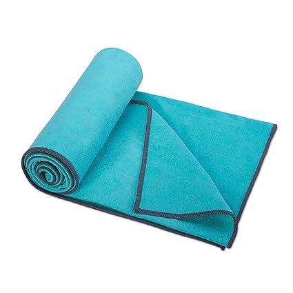 Pigupup Microfibra de Secado rápido Ligera Toalla Absorbente Compacto Ultra para Camping Yoga Natación Verde