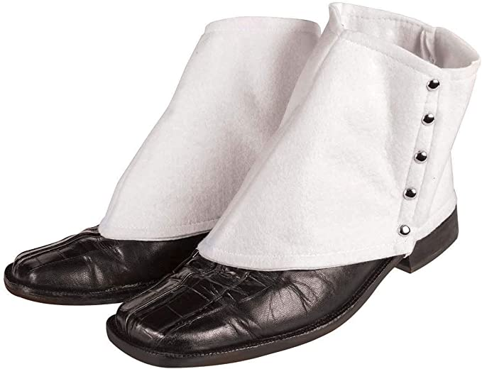 Steampunk Boots and Shoes for Men Forum Novelties Mens Roaring 20s Gangster Spats Costume Accessory $5.99 AT vintagedancer.com