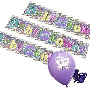 Baby shower decoration pack jumbo banner x 3m 10 for Baby shower decoration packs