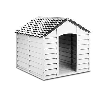 4568 Caseta de resina en forma de casa para perros PROLABZOO 78 x 85 x 80 cm - Gris: Amazon.es: Productos para mascotas