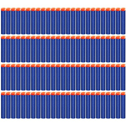 TOPCHANCES 100Pcs 7.2cm Foam Darts for Nerf N-strike Elite Series