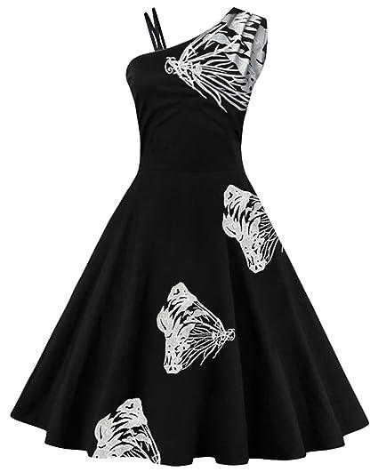 Kleid einseitig schulterfrei