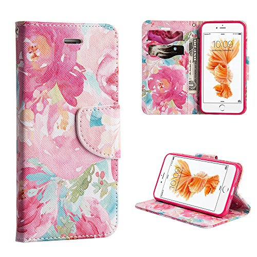 Executive Graphic Leather Wallet Case for iPhone 7 - Watercolor - Leather Graphic
