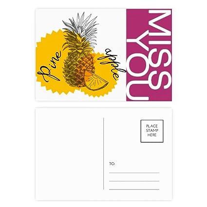 DIYthinker Dibujo amarillo fruta de la piña señorita ...