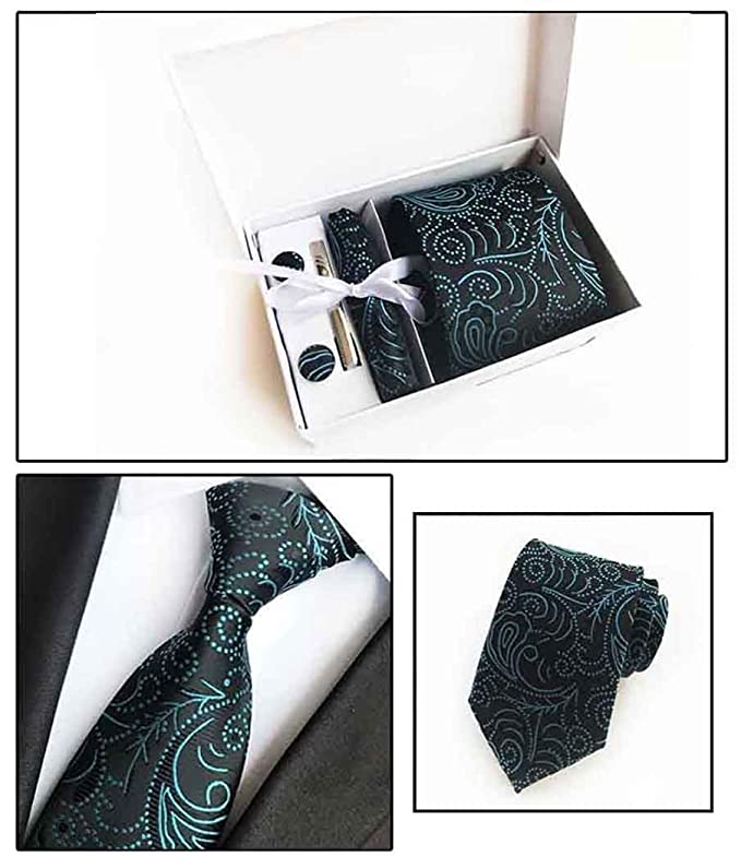 Yuany Conjunto de Mancuernas cuadradas de Bolsillo con Corbata de ...