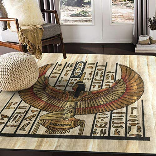 ALAZA Egyptian Ancient Parchment Culture Vintage Area Rug Rugs for Living Room Bedroom 7 x 5
