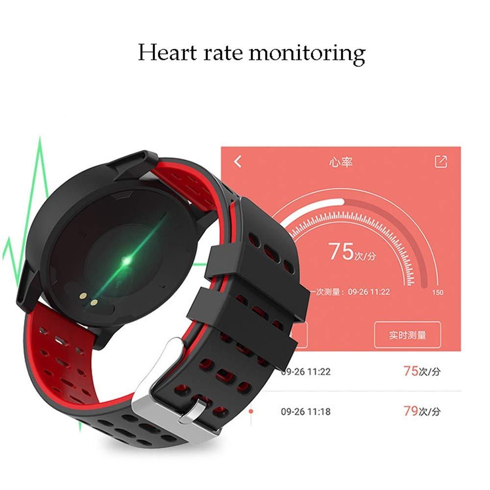 Xiao huang li klockor fitness tracker/klocka med pulsdetektor/Bluetooth/multifunktion/vattentät/bandlängd 24,9 cm/röd, grå, grön, blå (färg: Röd) BLÅ