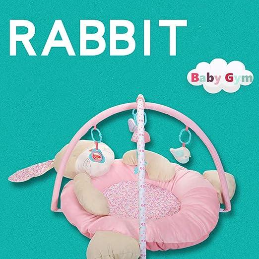 Gimnasio para bebés Rabbit, 3 en 1 Baby Play Mat Rabbit Lay & Play ...