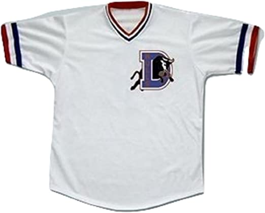 Crash Davis Durham Baseball Jersey Stitch Sewn New Shirt