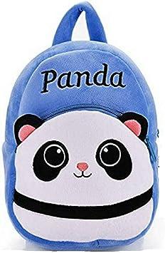 Blue Tree School Plush Soft Backpack Panda Cartoon Travelling Carry Picnic Bag for Kids/Girls/Boys/Children (Blu, 3 to 5 Year)