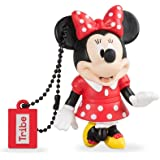 Tribe Disney Minnie Mouse Chiavetta USB da 8 GB Pendrive Memoria USB Flash Drive 2.0 Memory Stick, Idee Regalo Originali, Figurine 3D, Archiviazione Dati USB Gadget in PVC con Portachiavi - Multicolore