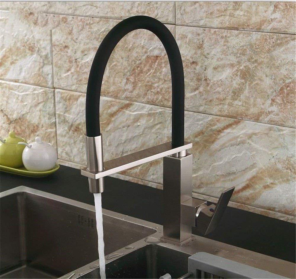 JingJingnet シンクミキサータップ浴室の台所の洗面器の水道水漏れ防止保存水春キッチンキッチンホット&コールドウォーターターン (Color : A) B07S3RQLSN A