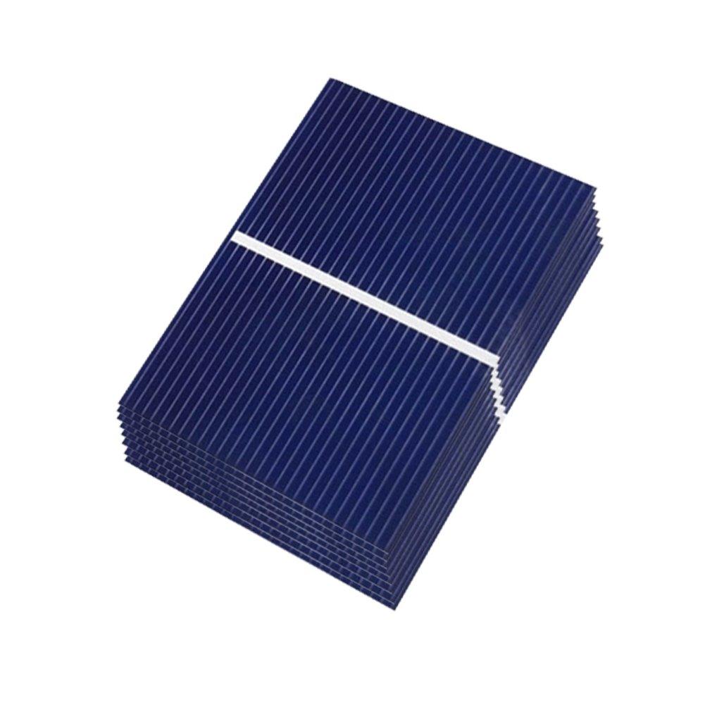 AIYIMA 40 pcs 0, 3 W Micro cellules solaires pour panneaux solaires en silicium polycristallin Panneau solaire DIY Mini panneau solaire 52 x 38 mm/5, 1 x 3, 8 cm 1x 3 8cm
