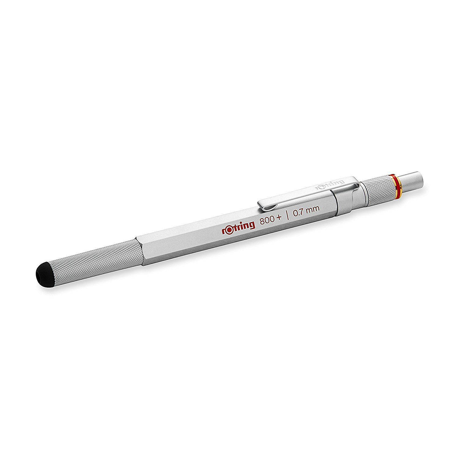 rOtring 1900184 800+ Mechanical Pencil and Touchscreen Stylus, 0.7 mm, Silver Barrel by Rotring (Image #2)
