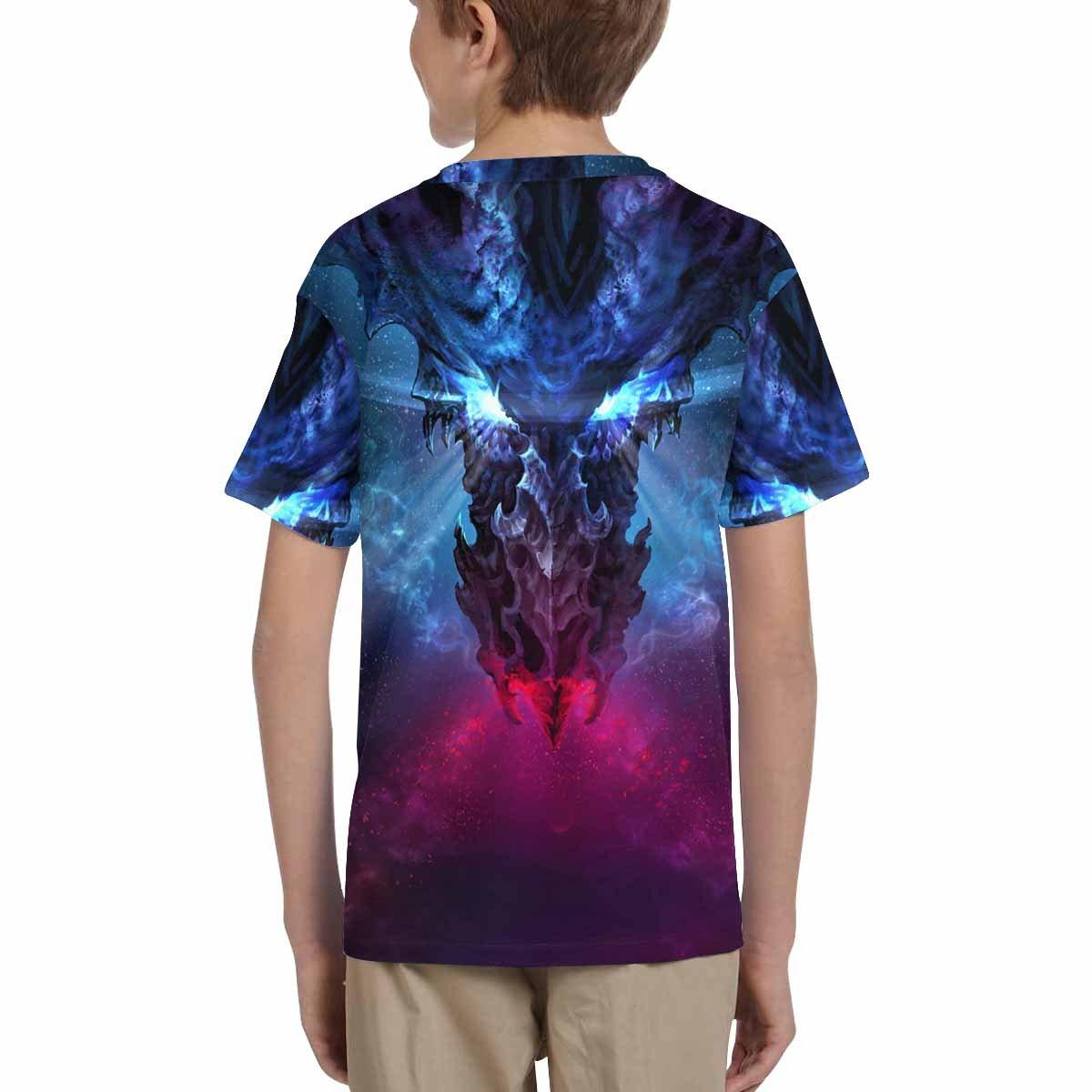 XS-XL INTERESTPRINT Kids T-Shirt A Huge Black Dragon