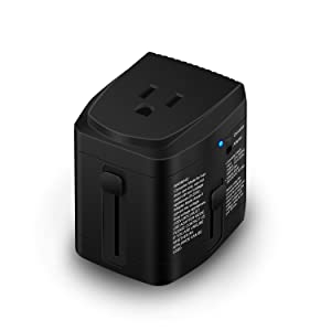 [UL Test Pass] World Travel Plug Power Adapter and 2000 Watts Voltage Converter Combo Step Down 220V to 110V for Hair Dryer Kettle Laptop MacBook Cell Phone - US to UK AU Europe Over 150 Countries