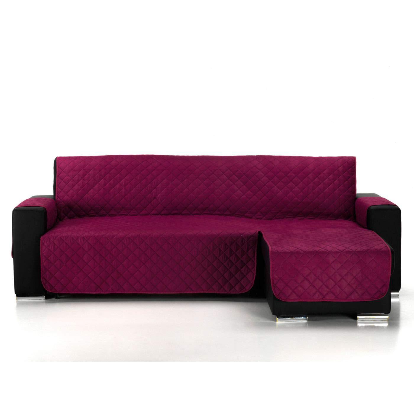 Funda Cubre Chaise Longue Acolchada Modelo Pelícano, Color Marrón, Medida 240cm · Brazo Izquierdo (Mirándolo de Frente)