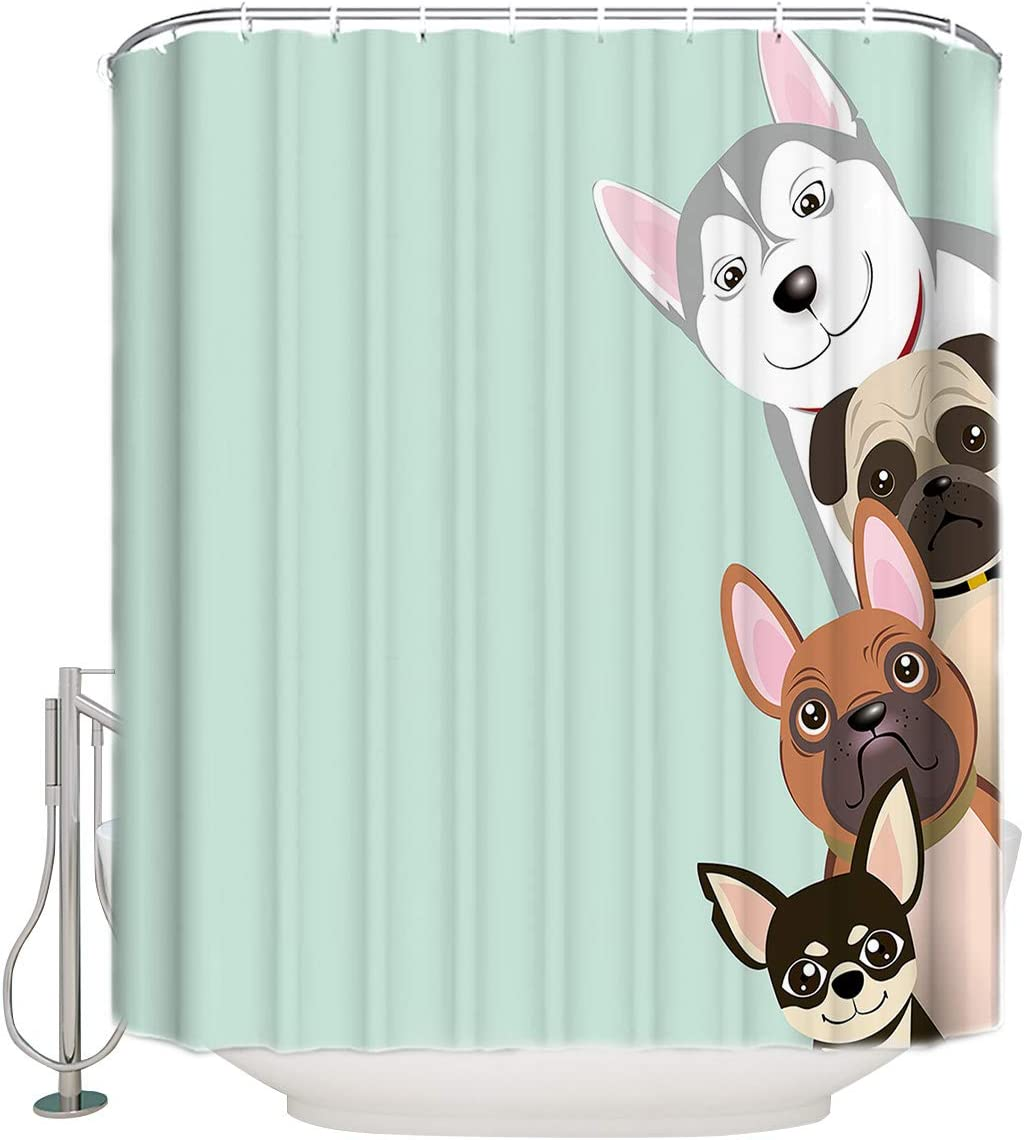 Amazon Com Royalreal Funny Animals Shower Curtain For Master Guest Kids College Dorm Bathroom 72x96inch Waterproof Polyester Bathroom Curtains Puppy Dogs Peeking Cartoon Theme Home Kitchen,Standard House Brick Dimensions Australia