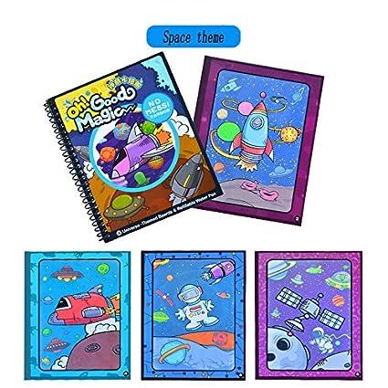 Amazon.com: Tangomall Univse Kids Magic Water Coloring Book with ...